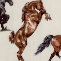 Small Scale Realistic Horse Breeds on Cream