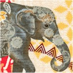 Bohemian Elephant Collage