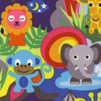 Jungle - Whimsical Colorful Animals by French Bull