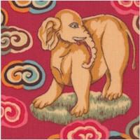 Himalaya - Exotic Jungle Animals on Crimson