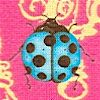 Evening Light Ladybugs on Lanterns by Tina Givens - SALE! (ONE YARD MINIMUM PURCHASE)