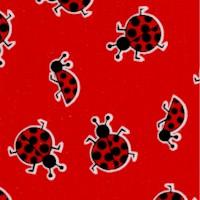 Ladybug, Ladybug - Tossed Beetles on Red