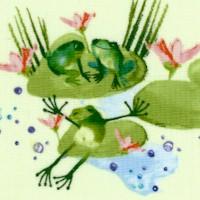 Lakeside Fun - Happy Hoppin' Frogs by Masha D'yans