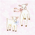 Baby Love - Precious Lambs on Pink by Susan Branch- LTD. YARDAGE AVAILABLE IN 2 PIECES