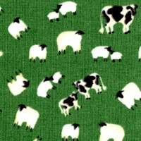 Tossed Cows and Sheep on Green by Whistler Studios