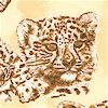 Leopard Sketches in Shades of Brown