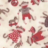 Monkey Around - Tossed Whimsical Sock Monkeys by Suzanne Cruise