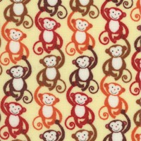 Whimsical Small-Scale Monkeys in Chains