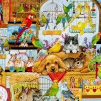 Whiskers & Tails - Colorful Pet Shop Scenic (Digital)