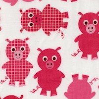 Urban Zoologie - Adorable Pigs on Ivory
