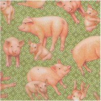 Greener Pastures - Real Pigs on Green Texture