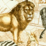 Expedition - Safari Animals Over Antique Maps