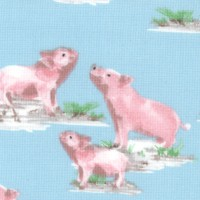 Silo - Tossed Pigs on Blue by Whistler Studios