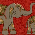 The Spice Trail - Indian Inspired Elephant Stripe #2 - LTD. YARDAGE AVAILABLE