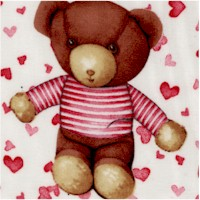 Baby Love - Tossed Teddy Bears and Hearts