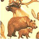 Winter Woodlands - Woodland Animals on Cream