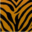 Animal Skin - Zebra Stripe on Shaded Caramel