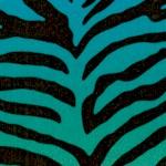 Animal Skin - Zebra Shadows in Blue Jewel