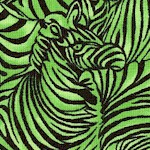Tribal Instincts - Packed Zebras in Green by Ro Gregg