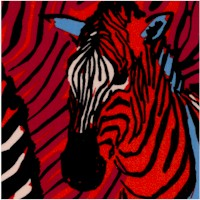 Zendaya - Colorful Zebra Collage
