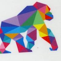 Zoometrix - Colorful Geometric Animals on Ivory