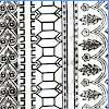 Antiquity - Greek Architecture Vertical Stripe Motifs by Ro Gregg