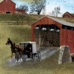 Heading Home - Country Covered Bridges  - BACK IN STOCK!