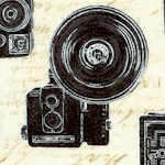 Objects - Vintage Cameras on Beige