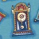 Tossed Clocks on Turquoise