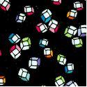 Happy Hour - Tumbling Rainbow Ice Cubes on Black