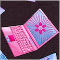 Tossed Pink Laptop Computers on Black