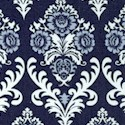 Heirloom - Versailles Damask in Shades of Blue