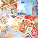 Destinations - Money  Money  Money - Packed Foreign Currency and Postage Stamps (MISC-destinations-M