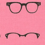 Geekly Chic - Retro Eyeglasses on Pink