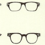 Geekly Chic - Retro Eyeglasses on Cream