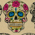Calavera - Tattoo Sugar Skulls on Beige