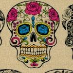 Calavera - Tattoo Sugar Skulls on Beige