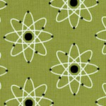 Mod Geek - Tossed Atomic Symbols on Green