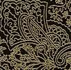 Gilded Kashmir Paisley on Onyx