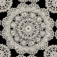 Mary Rose Collection - Antique Lace Medallions on Black
