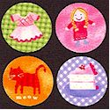 Little Lady - Fun Dots on Black - SALE! (MINIMUM PURCHASE 1 YARD)
