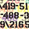 Pastel Phone Numbers on Cream