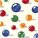 Boys Will Be Boys - Scattered Marbles on Cream - LTD. YARDAGE AVAILABLE IN 2 PIECES