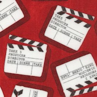 Lights, Camera, Action! Tossed Movie Clapboards by Whistler Studios