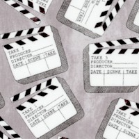 Lights, Camera, Action! Tossed Movie Clapboards #2 by Whistler Studios