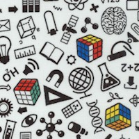 Rubik's 2 - I'm a Genius - Tossed Science, Math, Geometry and Chemistry Symbols