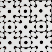 Op Art II - Black and White Geometric #2 by Gail Kessler