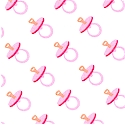 Doll Babies - Small Scale Pacifiers in Pink by Barbara Jones (MISC-pacifiers-P95)