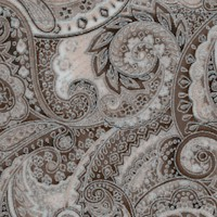 Trieste - Elegant Silver Metallic Paisley in Shades of Gray