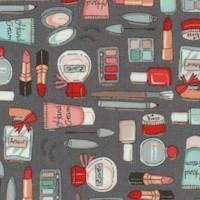 Cosmetics with Metallic Highlights on Gray